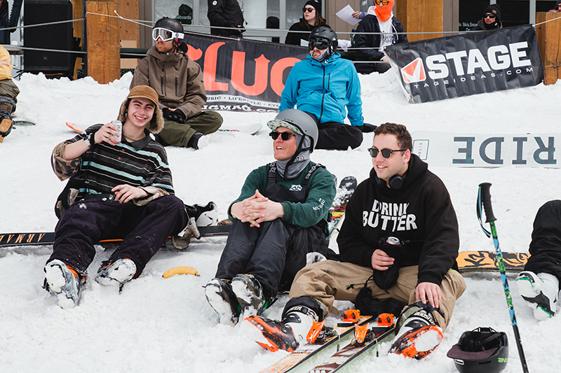Support was all-time between skiers and riders. Photo: Matthew Hunter