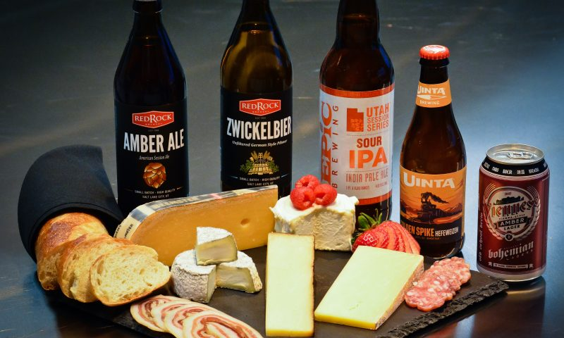 Cheese and Charcuterie board built around both domestic and imported cheeses, cured meats and locally brewed craft beers.