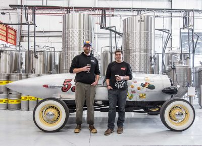 (L–R) Scott Parker and Jeremy Ford proudly oversee Salt Flats Brewing's operations, boasting an impressive roster of 20 high-flavor session beers as well as new high-point releases. Photo: ColtonMarsalaPhotography.com