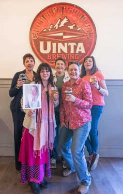 (L–R) Salt City Girls Pint Out chapter head Crissy Long with members Kim, Suela, Tina, Lindy and Trudy, enjoying a few pints at Uinta Brewing Co. Photo: ColtonMarsalaPhotography.com