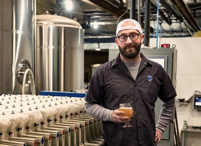 "With new, local ingredients and a sustainability-forward ethos, Kiitos Brewing Head Brewer Clay Turnbow is an avid drinker and maker of ""out-there"" beers. Photo: LMSorenson.net"