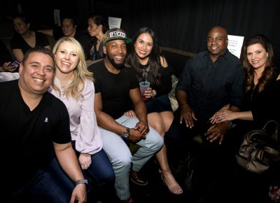 David, Amy, Marcus, Jessica, WB and Bethany snag a VIP booth at Metro Music Hall. Photo: Lmsorenson.net