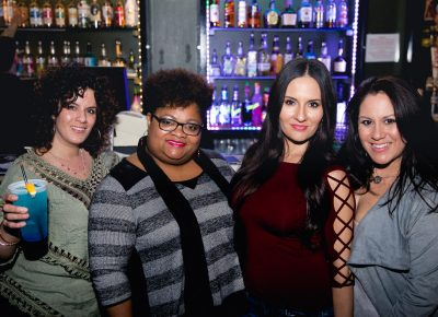 Elaina, Caribbean Nightengale Rose, China and Monica grabbing drinks before the show. Photo: Lmsorenson.net