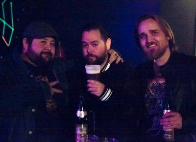 David Lopez, Lu Lopez, and Tory Ericson enjoying beers. Photo: Jessica Bundy