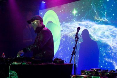 DJ Thoroughbred starts his set. Photo: Jessica Bundy