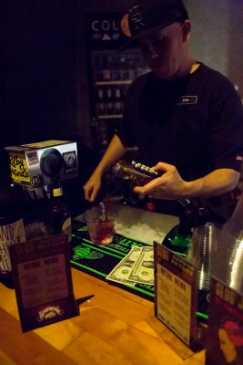 Ryan serves up an exclusive specialty drink. Photo: Jessica Bundy