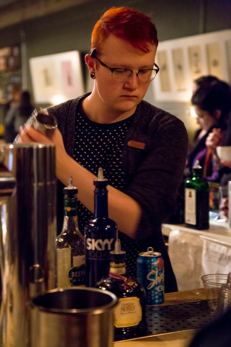 A bartender at Rye serving up exclusive specialty drinks. Photo: Jessica Bundy
