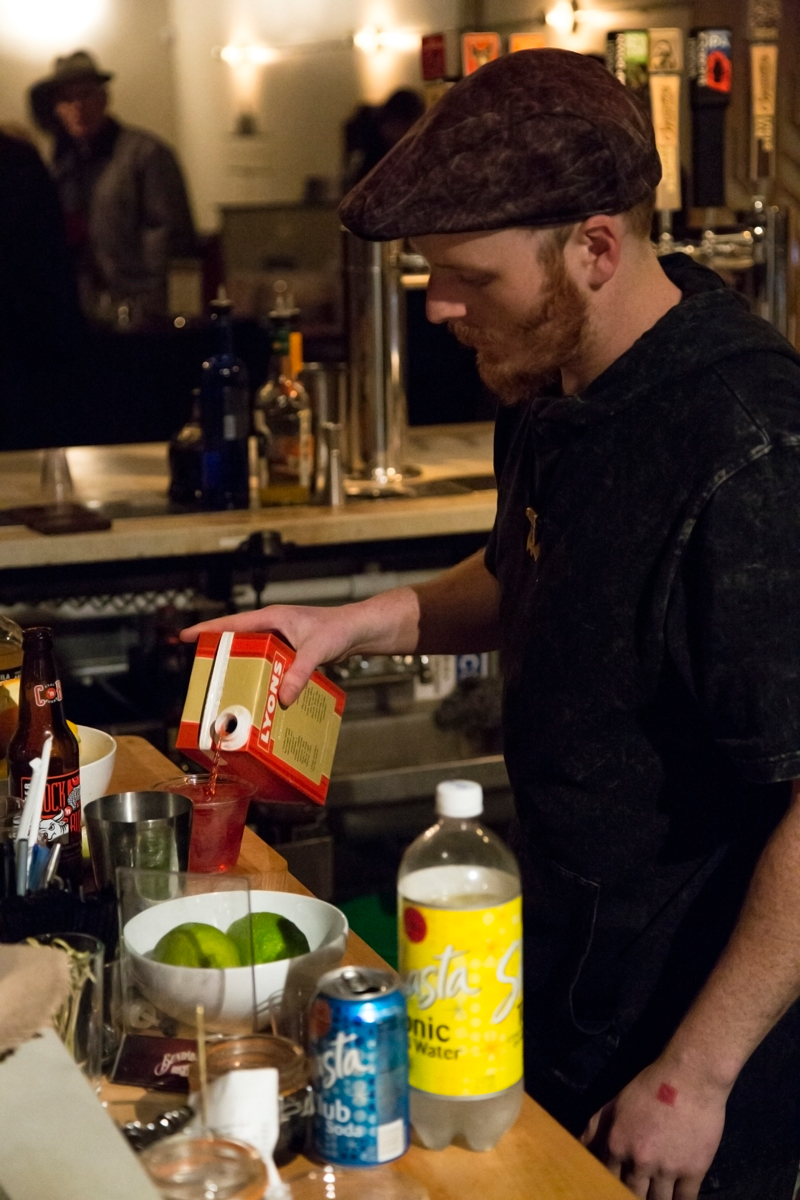 A bartender at Rye making some exclusive specialty drinks. Photo: Jessica Bundy