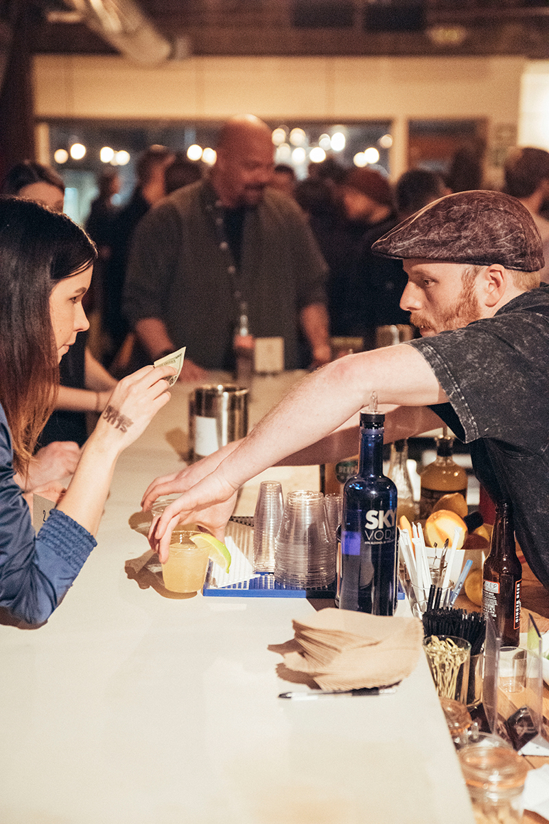 Eric dutifully helping quench thirst at the RYE tarot lounge. Photo: Will Cannon