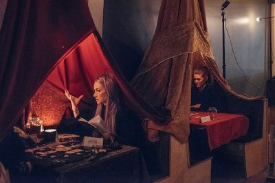 The tarot lounge in RYE was a major attraction for the evening. Photo: Will Cannon
