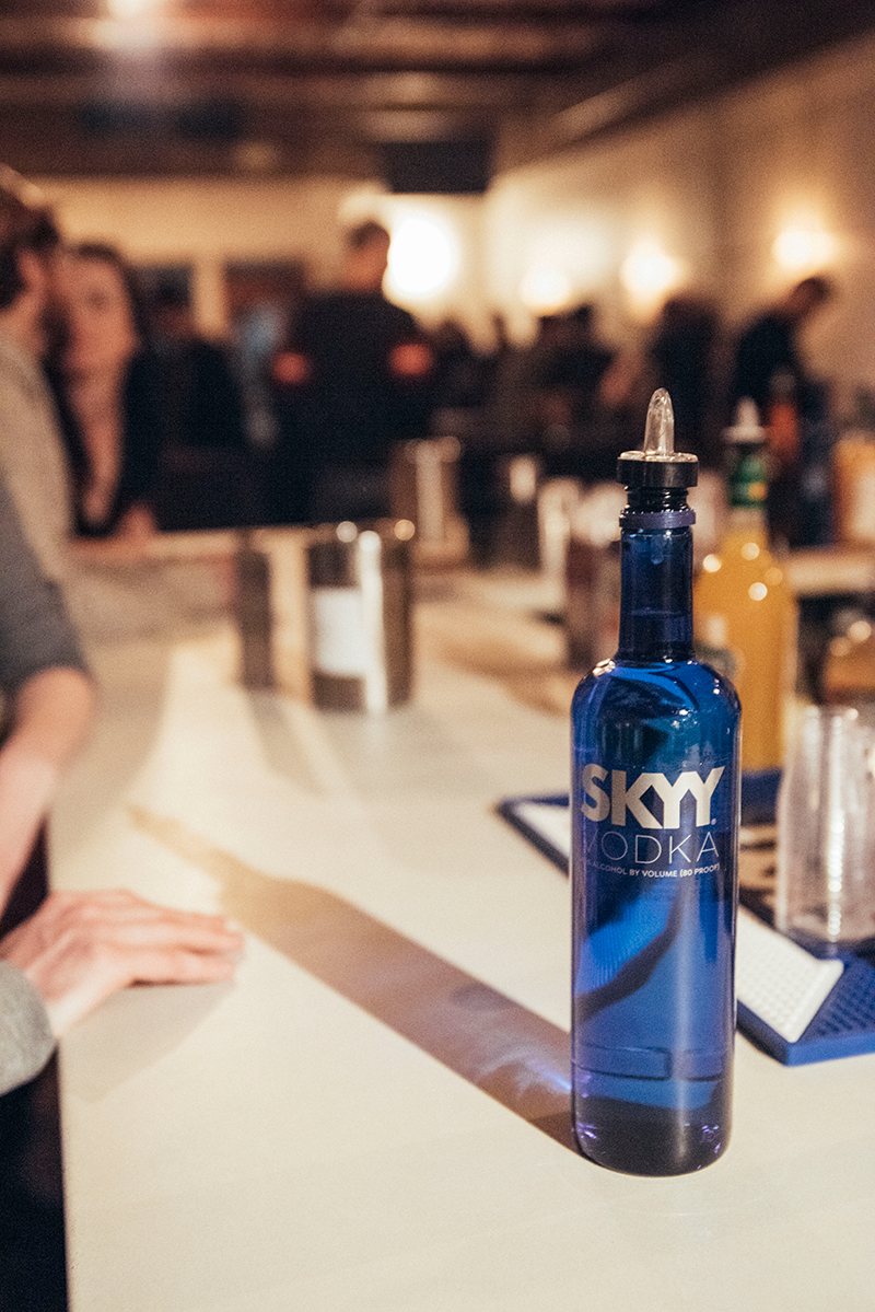 Skyy Vodka was a wonderful component to many drinks and a fun evening. Photo: Will Cannon