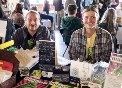 (L-R) Guerilla Artfare is a collaboration between Jordan Stoddard and Zakk Reynolds. They met after Reynolds saw Stoddard's art at Café on 1st. The Guerrilla Artfare zine is available as a $25 subscription or at random distribution points around the valley. Location clues are distributed after zines are hidden, and issue #4 just hit the streets.