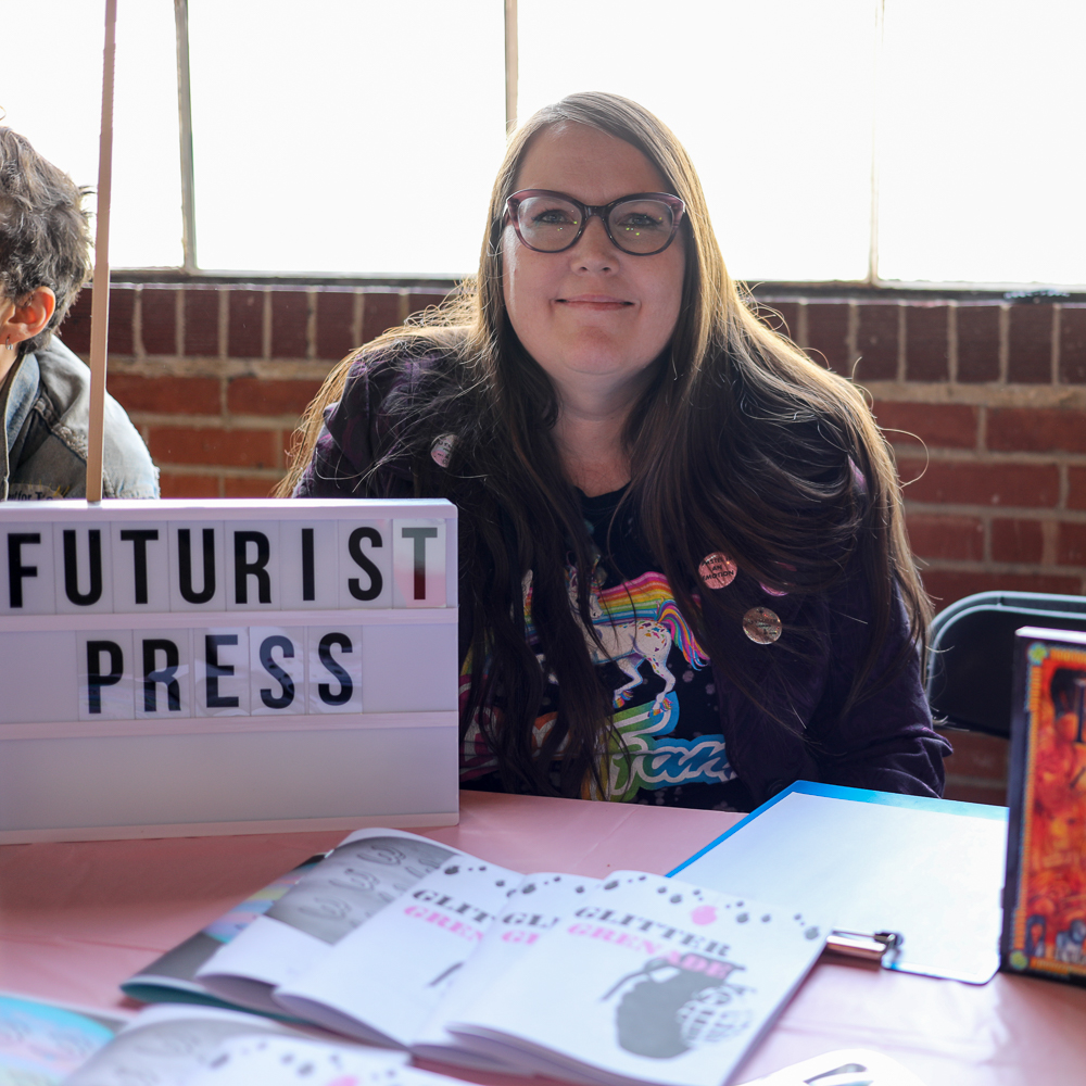 Future Press's Cory Weeks recently moved to Ogden from New Orleans. She brings a sci-fi mentality to her zines, and she has a young adult novel coming out in the spring of 2019.