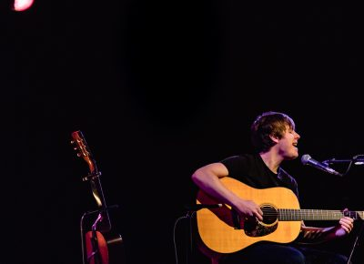 Just a spotlight and a guitar is all that musician Jake Bugg needs onstage. Photo: Lmsorenson.net
