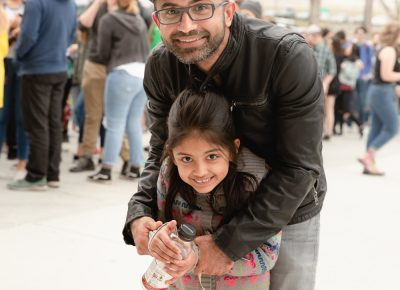 Bilal and daughter Mishi out for her first concert experience, eager to see alt-J. Photo: Lmsorenson.net