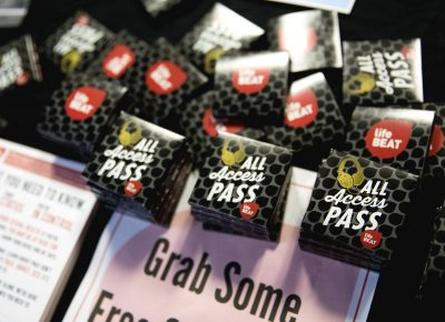 The Utah Aids Foundation gave out free condoms and information for any and all. Photo: Lmsorenson.net