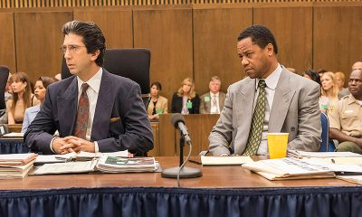"""THE PEOPLE v. O.J. SIMPSON: AMERICAN CRIME STORY """"A Jury In Jail"""" Episode 108 (Airs Tuesday, March 22, 10:00 pm/ep) -- Pictured: (l-r) David Schwimmer as Robert Kardashian, Cuba Gooding, Jr. as O.J. Simpson. CR: Prashant Gupta/FX"""