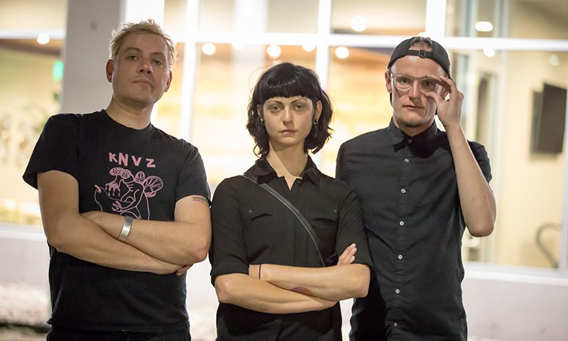 (L–R) David Payne, Halee Jean and Michael Nebeker meld contemporary and classical influences to form experimental compositions steeped in improvisation and vulnerability. Photo: John Barkiple