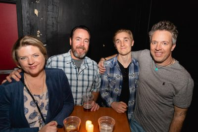 Sally, Brett, Ty and Tony hanging out by their table, awaiting Jake Bugg to take the stage. Photo: Lmsorenson.net