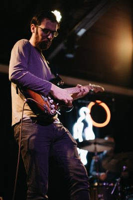 Jacob Blizard backing Dacus with some versatile riffing.