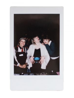 A quick polaroid with Adult Mom and And The Kids after the show.