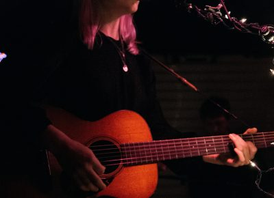 "Phoebe Bridgers opening her set with ""Smoke Signals."" Photo: Matthew Hunter"