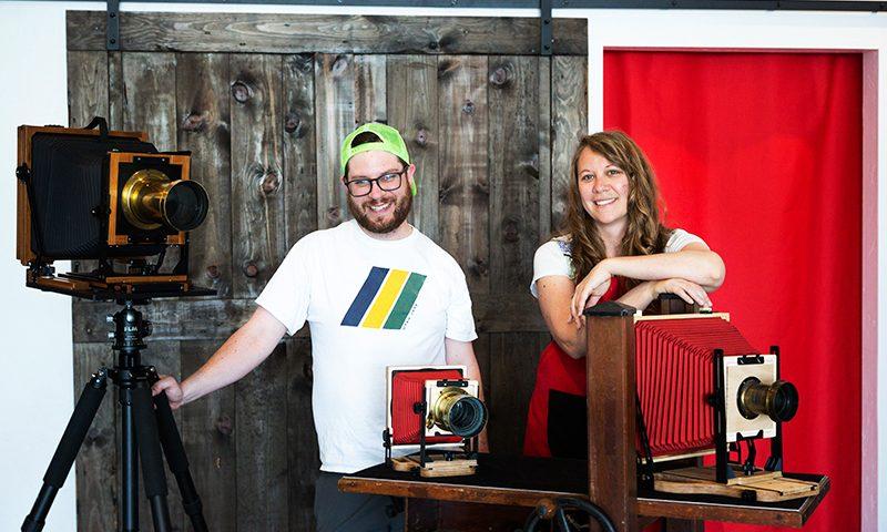 (L–R) David Hyams and Christine Baczek of Luminaria. Photo: Jessica Bundy
