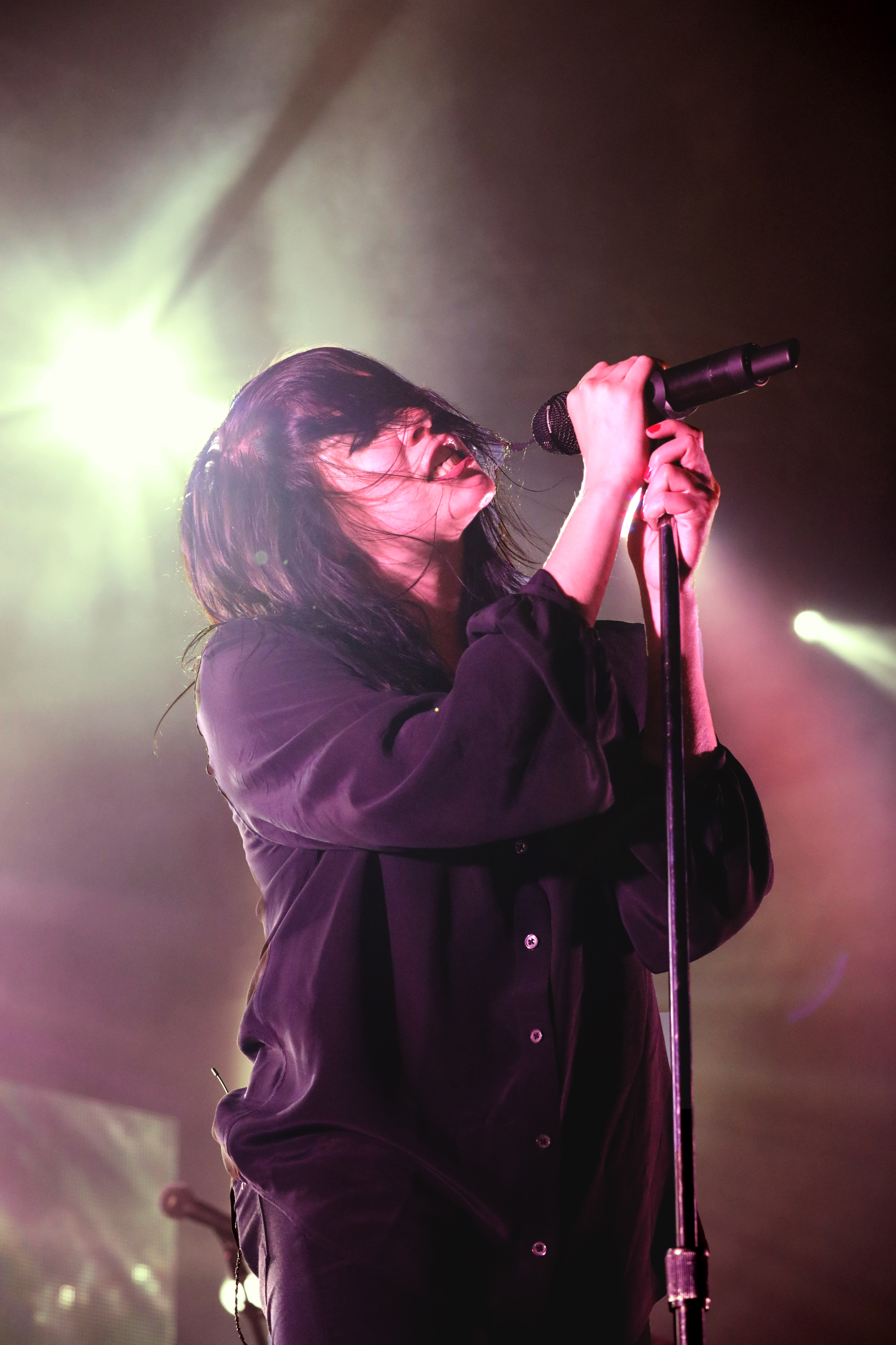 K.Flay Soaking it up in a bath of light and music.