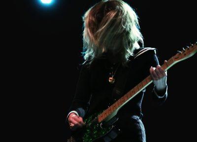 Laura-Mary Carter jamming in the dark. Photo: Lmsorenson.net