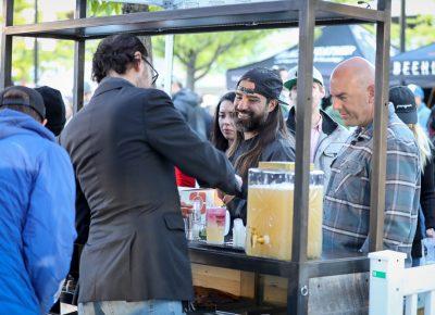 High West offered a popular Vodka 7000 lemonade cocktail. Photo: John Barkiple
