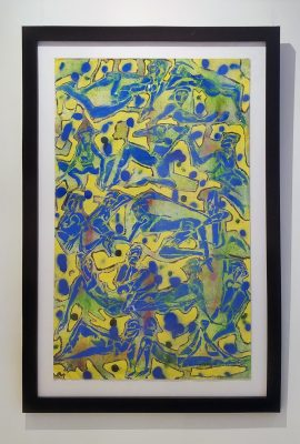 """Charles K. Lassiter, """"Blue Group Reclining,"""" from An Outsider Looking Inward."""