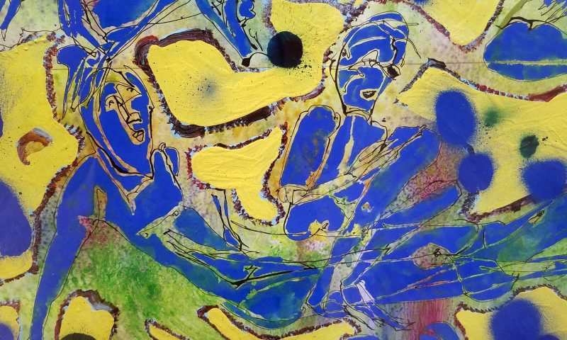 """Charles K. Lassiter, """"Blue Group Reclining"""" (detail), from An Outsider Looking Inward."""