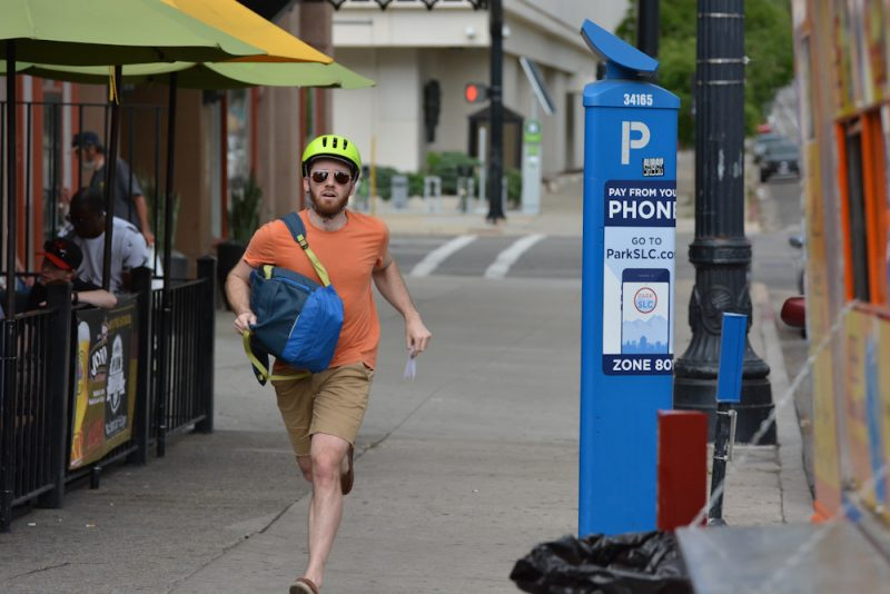 Racers at the Beer Bar stop could opt for extra credit by renting a Green Bike and riding it around the block.