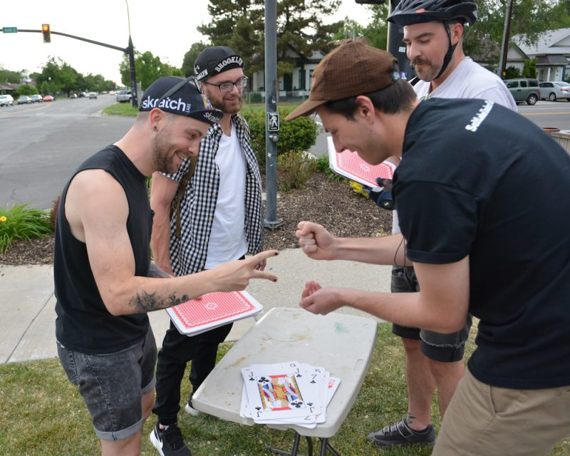 On a draw, competitors had to resort to rock, paper, scissors to decide the winner.