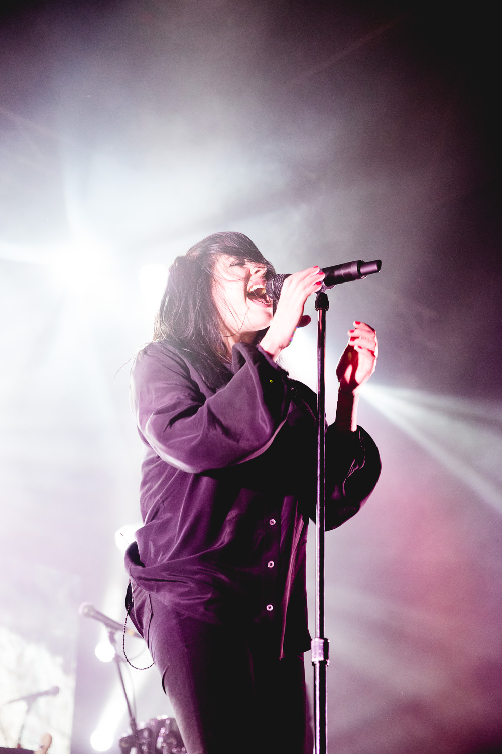 K.Flay singing her heart out.