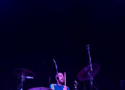 Drummer Mince Fratelli for The Fratellis. Photo: Lmsorenson.net