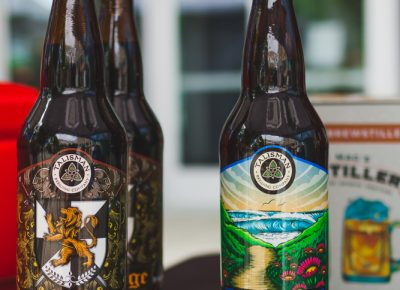 The Iron Age and Hazards brews were available to sample by Talisman Brewing. Photo: Talyn Sherer