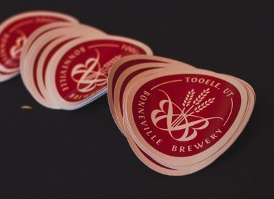 Bonneville Brewing stickers are there to remind you of all that tastiness you drank up on Saturday night. Photo: Talyn Sherer