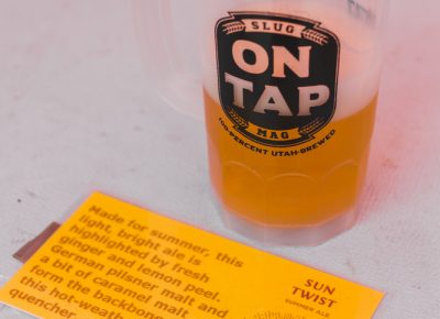 The Sun Twist summer ale from Bonneville Brewing was reminiscent of a shandy, which paired perfectly with a sunny day. Photo: Talyn Sherer