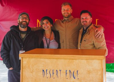 (L–R) Chad Krusel (Head Brewer), Rebeca Mae, Milchael Miller and Gray Gray are the masterminds behind Trolley Square's best attraction, Desert Edge. Photo: Talyn Sherer