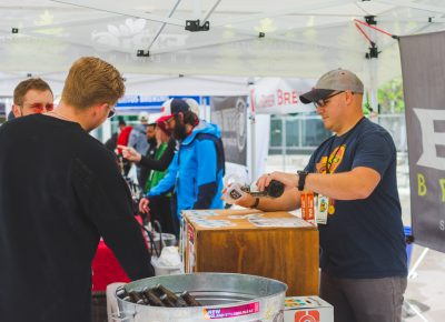 Epic Brewing pours off some of their signature brew for this year's event. Photo: Talyn Sherer