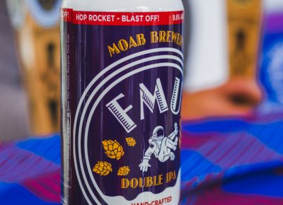 Moab Brewery's newest addition, the FMU DIPA, has been flying off the shelves on the market here in SLC. Photo: Talyn Sherer