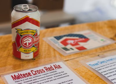 In conjunction with their one-year anniversary, RoHa Brewing crafted the Maltese Cross Red Ale in honor of the firefighters here in Utah. Photo: Talyn Sherer