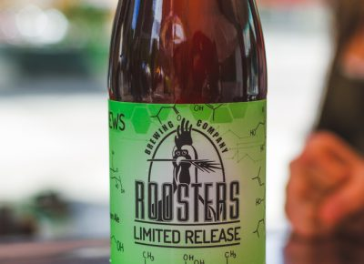 Rooster's limited release of their blueberry cream ale was amazing but so are those new labels they are sporting. Photo: Talyn Sherer