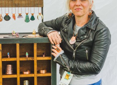 Rachel Johnson of House of Tenebris is a copper and brass aficionado whose style is unmatched in Salt Lake. Photo: Talyn Sherer