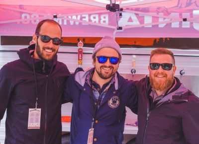 (L–R) Shawn Smith, Jeremy Worrell and Jimmy Brown are the beer repping squad from Uinta Brewing. Photo: Talyn Sherer