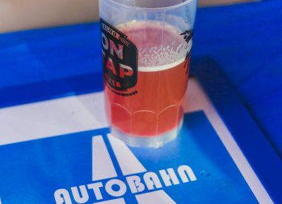 Salt Flats Brewing brought out their tasty Berliner Weisse with raspberry puree added to the mix. Photo: Talyn Sherer