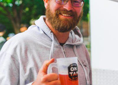 Salt Flats head brewer Scott Parker gives us a nice toast to start off the night. Photo: Talyn Sherer