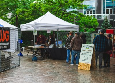 Rain or shine, we will have a line and people were sure to arrive early for this year's festival. Photo: Talyn Sherer