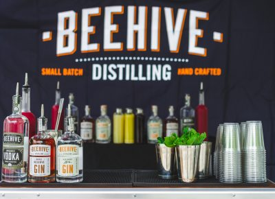 The complete setup for Beehive Distilling was ready to be devoured throughout the night. Photo: Talyn Sherer